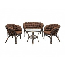 Комплект плетеной мебели Багама кофе