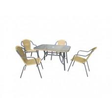Комплект плетеной мебели для сада Неаполь-ДМ1