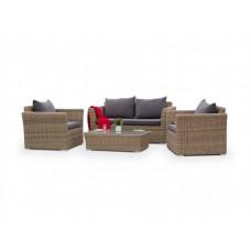Комплект плетеной мебели Капучино Сингл