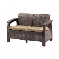 Плетеный диван из искусственного ротанга Ловди