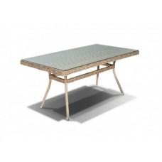 Плетеный стол со стеклом Латте СТ