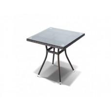 Плетеный стол со стеклянной столешницей Корто 1