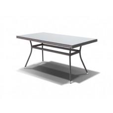 Плетеный стол со стеклянной столешницей Торре