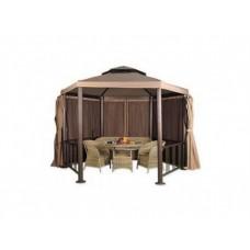 Гексагональный шатер для дачи Лайт Браун