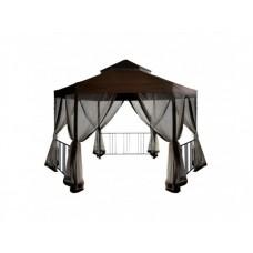 Шестигранный шатер для дачи с москитной сеткой Браунди