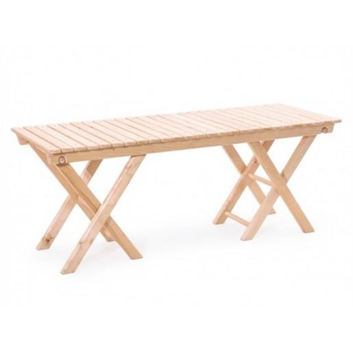 Деревянная скамейка без спинки Комири