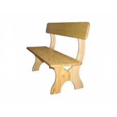 Деревянная скамейка со спинкой Омега лавка