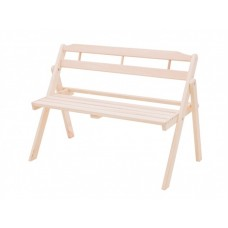 Скамейка для дачи со спинкой из дерева Имонс