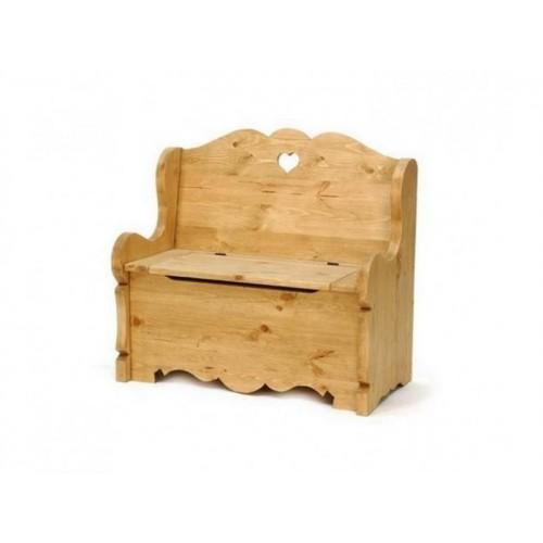Скамейка-сундук из сосны Банкора