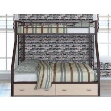 Двухъярусная кровать для детей Раута Твист с ящиками