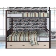 Двухъярусная кровать для детей с бортиками Валенсия 120 с ящиками