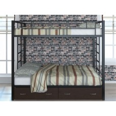 Двухъярусная кровать для детей с бортиками Валенсия 120 Твист с ящиками