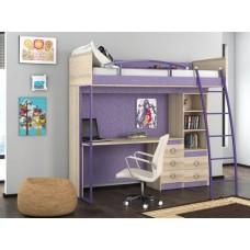 Детская кровать-чердак с рабочим местом Индиго К5
