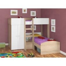 Детская угловая двухъярусная кровать-чердак Голден Кидс 4