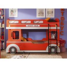 Двухъярусная кровать-машинка для детей Автобус 1