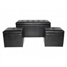 Банкетка из экокожи с ящиком для хранения Лайза