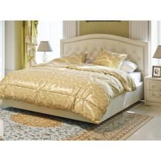 Двуспальная кровать кожаная Аделия-2 с подъемным механизмом