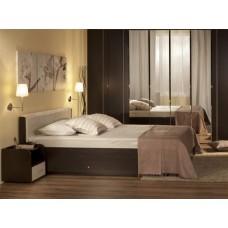 Двуспальная кровать с изголовьем из экокожи Берлин М