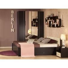 Двуспальная кровать с изголовьем из экокожи Берлин ПМ