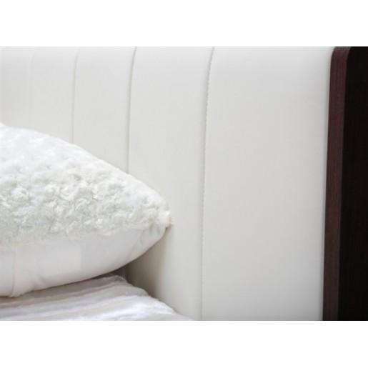Двуспальная кровать с изголовьем из экокожи Берлин