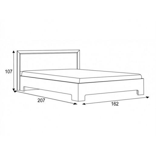 Двуспальная кровать с изголовьем из экокожи Капри 1