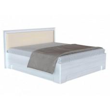 Двуспальная кровать с изголовьем из экокожи Прато 1 ПМ