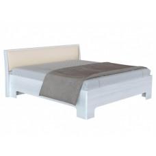 Двуспальная кровать с изголовьем из экокожи Прато 3