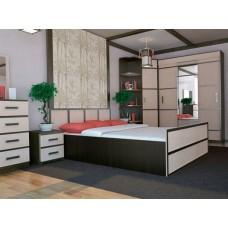 Двуспальная кровать с ящиками Сакура ДК