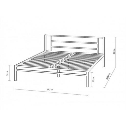 Двуспальная кровать с ящиками Титан К с ящиками