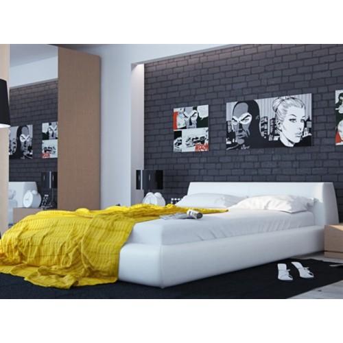 Двуспальная кровать Ватта с чехлом