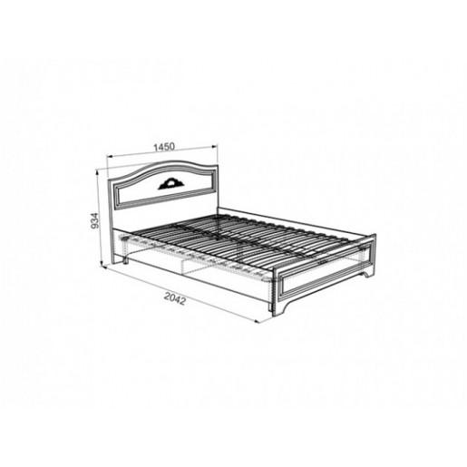Полутороспальная кровать Белла-02