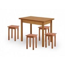 Деревянный кухонный стол и стулья Хатико 1