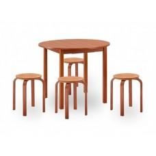 Круглый стол и стулья для кухни Норония 2