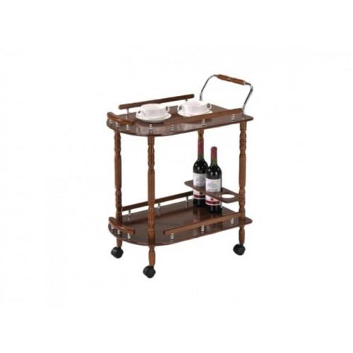 Деревянный сервировочный стол на колесиках Эстет