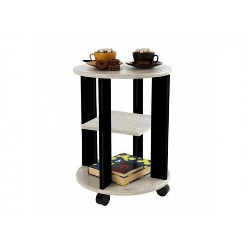 Деревянный сервировочный столик на колесиках Премьера-8