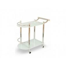 Стеклянный сервировочный столик на колесиках Парис