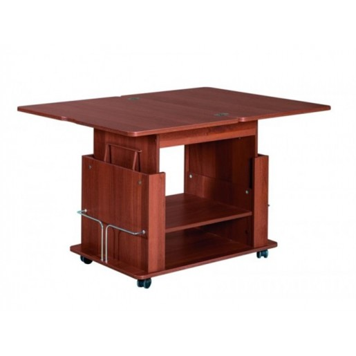 Журнальный стол-трансформер обеденный на колесиках Агат-19.1
