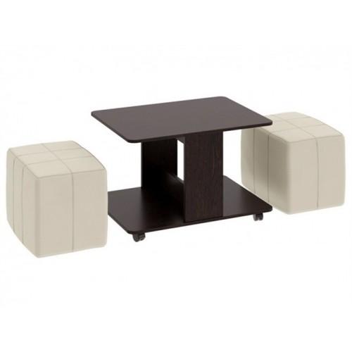 Журнальный столик с пуфиками Каприно