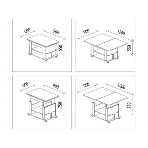 Журнальный столик-трансформер для гостиной Агат-19.2