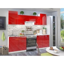 Кухонный гарнитур Бланка 238 см Красный глянец