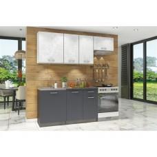 Прямой кухонный гарнитур Бланка Антрацит 200 см