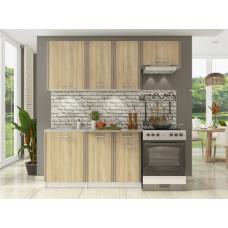 Прямой кухонный гарнитур Бланка Сонома 200 см
