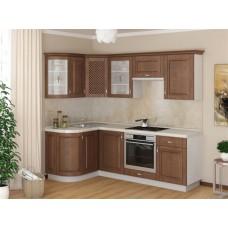 Угловой кухонный гарнитур из дерева Массив-Люкс 133 х 160 см