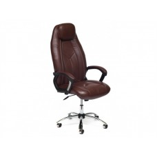 Кресло в офис для руководителя Босс (хром)